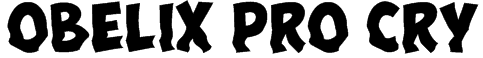 Obelix Pro Cry Font