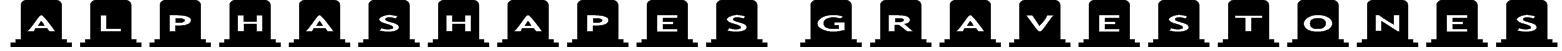 AlphaShapes gravestones Font