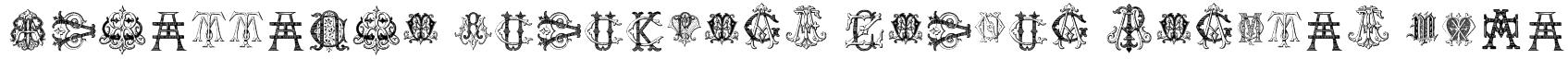 Intellecta Monograms Random Samples Five Font