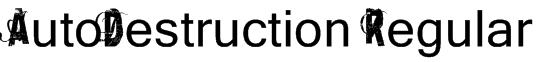 AutoDestruction Regular Font