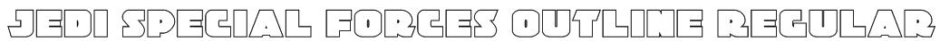 Jedi Special Forces Outline Regular Font