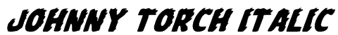 Johnny Torch Italic Font