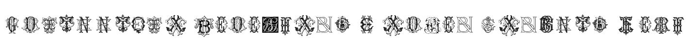 Intellecta Monograms Random Samples Four Font