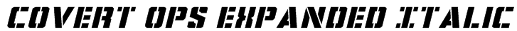 Covert Ops Expanded Italic Font