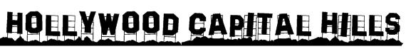 Hollywood Capital Hills Font