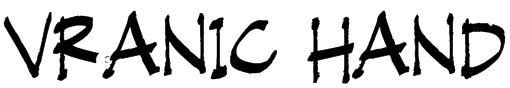 Vranic Hand Font