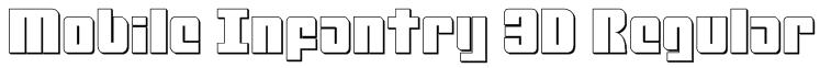 Mobile Infantry 3D Regular Font