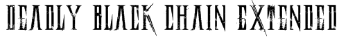 Deadly Black Chain Extended Font