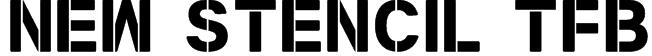 New Stencil tfb Font