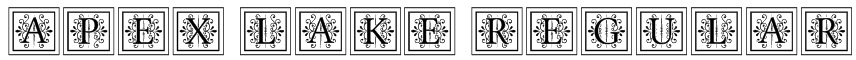 Apex Lake Regular Font