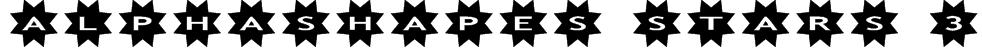 AlphaShapes stars 3 Font