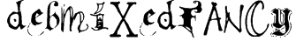 debmixedfancy Font