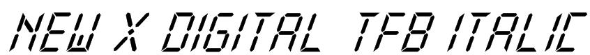 New X Digital tfb Italic Font