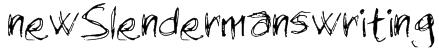 newSlendermanswriting Font