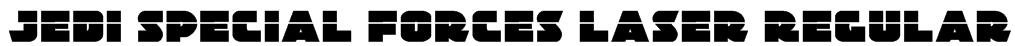 Jedi Special Forces Laser Regular Font