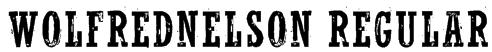 WolfredNelson Regular Font