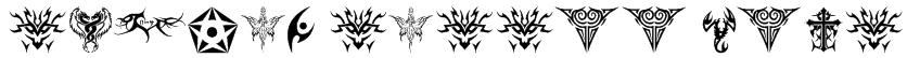 tribal tattoo font Font