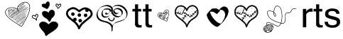 PWLittleHearts Font