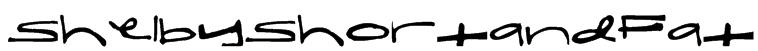 ShelbyShortandFat Font