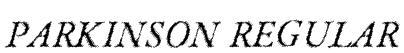 Parkinson Regular Font