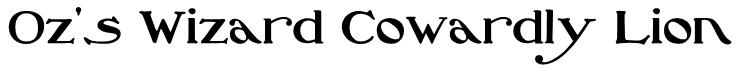 Oz's Wizard Cowardly Lion Font
