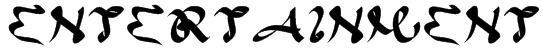 ENTERTAINMENT Font