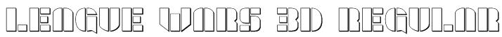 League Wars 3D Regular Font
