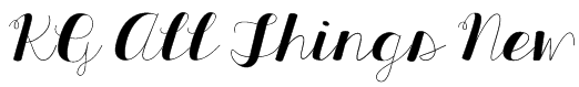 KG All Things New Font