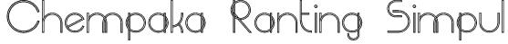 Chempaka Ranting Simpul Font