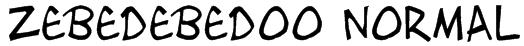 Zebedebedoo Normal Font