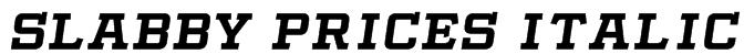 Slabby Prices Italic Font
