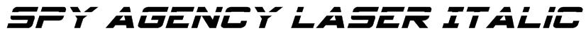 Spy Agency Laser Italic Font