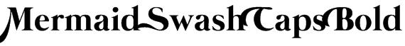 Mermaid Swash Caps Bold Font