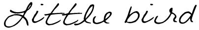 Little bird Font