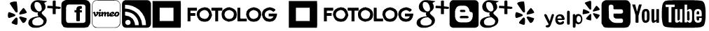 Social logos tfb Font