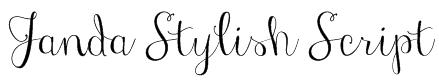Janda Stylish Script Font