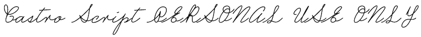 Castro Script PERSONAL USE ONLY Font