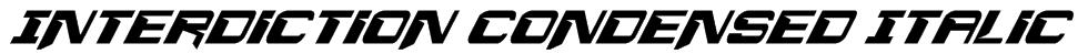 Interdiction Condensed Italic Font