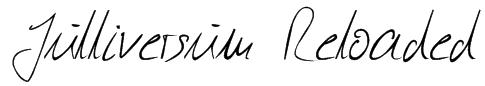 Julliversum Reloaded Font