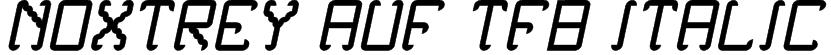 Noxtrey Auf tfb Italic Font
