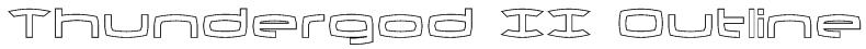 Thundergod II Outline Font