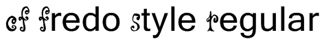 CF Fredo Style Regular Font