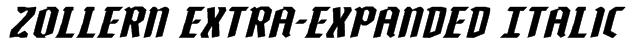 Zollern Extra-Expanded Italic Font