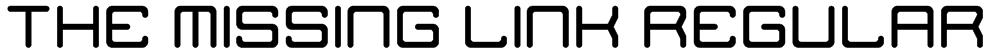 The Missing Link Regular Font