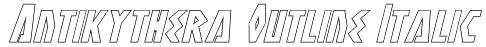Antikythera Outline Italic Font