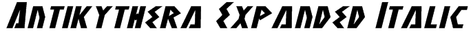 Antikythera Expanded Italic Font