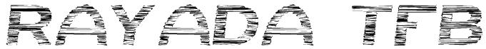 Rayada tfb Font