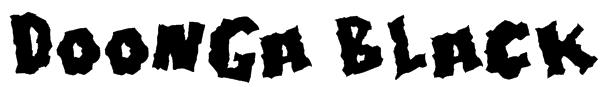 Doonga Black Font