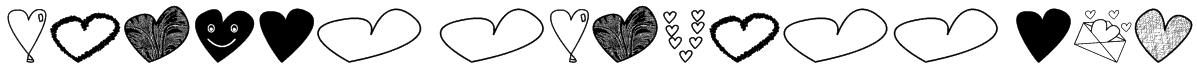 hearts shapess tfb Font