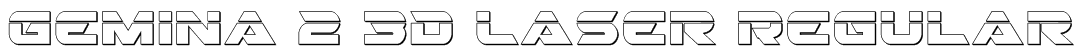 Gemina 2 3D Laser Regular Font